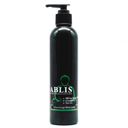 ablis soothing muscle joint rub CBD topical